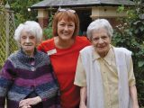Competition judges in Salisbury praised Braemar Lodge for gearing its garden totally to residents. With Activity Organiser Sylvie Rodulson are 100-year-old Ruby Culter (left) and fellow resident Mickie Cashin.