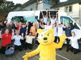 VIP visitor launches homes' marathon cycle for BBC Children in Need