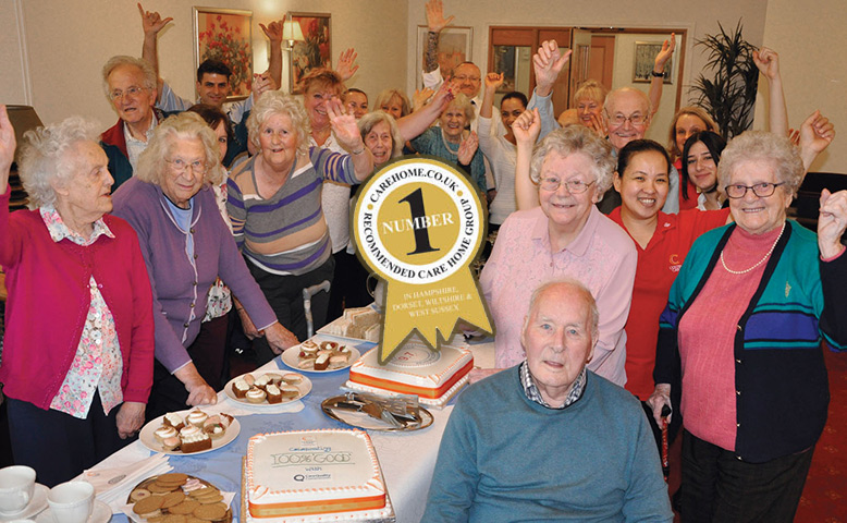 One Team, 100% record All together: Residents and staff from our six New Forest-based homes gathered at Kingfishers in New Milton for afternoon tea, to mark Colten Care's 100% 'Good' rating by the Care Quality Commission and 'number 1' status on a respected independent review site. ... read article...