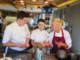 Our chefs brush up their talents at a top UK cookery school