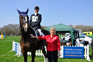 VISIT. Blandford competitor Jo Rimmer, on eight-year-old Isaac Newton, was among the riders. With Jo is Monique Brady, Activity Organiser at Brook View in West Moors.