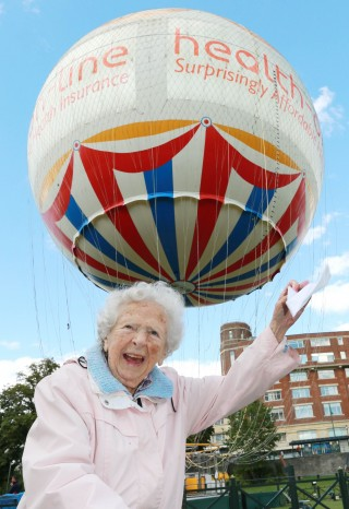 Joan at the Bournemouth Balloon