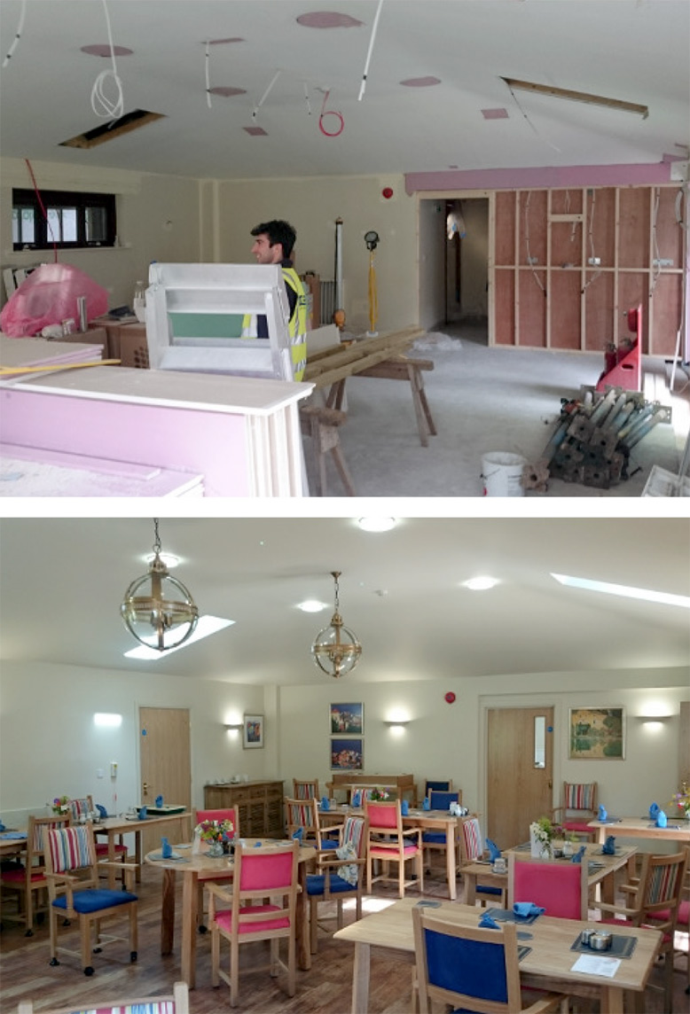 Abbey View refurbishment before and after