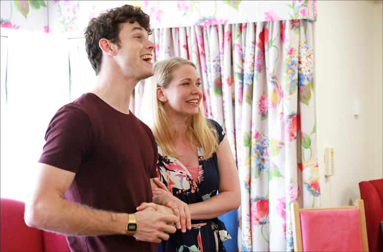 CENTRE STAGE. Charlie Stemp, who plays main character Arthur Kipps, performs with Emma Williams.