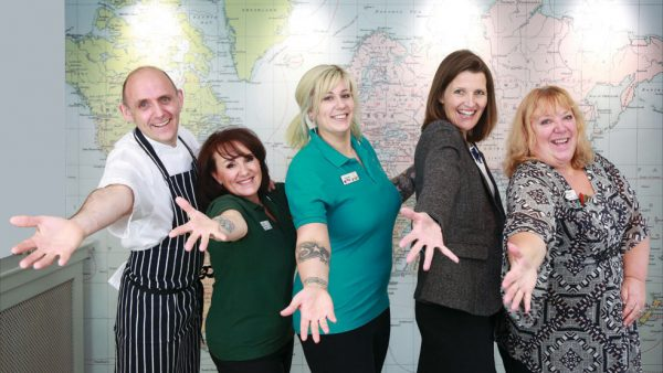 High 'five' for winner Meg and awards finalists National Dementia Care Award winner Meg Austin, centre, with (l-r) David Jacques, Carol Clapcott, Lindsay Rees and Janie Pearman, who are all shortlisted for a National Care Award... read article...