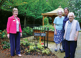 AWARD:. At the start of the woodland walk are, from left, Home Manager Alison Bremner, resident Frances Barrow, gardener Lesley King and resident Dora Williams.
