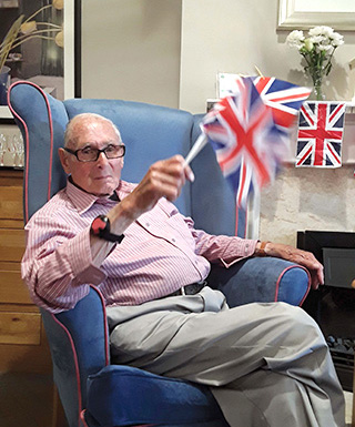 Boyd Salmon, a WWII veteran, at Court Lodge in Lymington