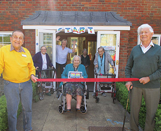 START: Residents and team members at Braemar Lodge in Salisbury start their walk in aid of the 2.6 Challenge.