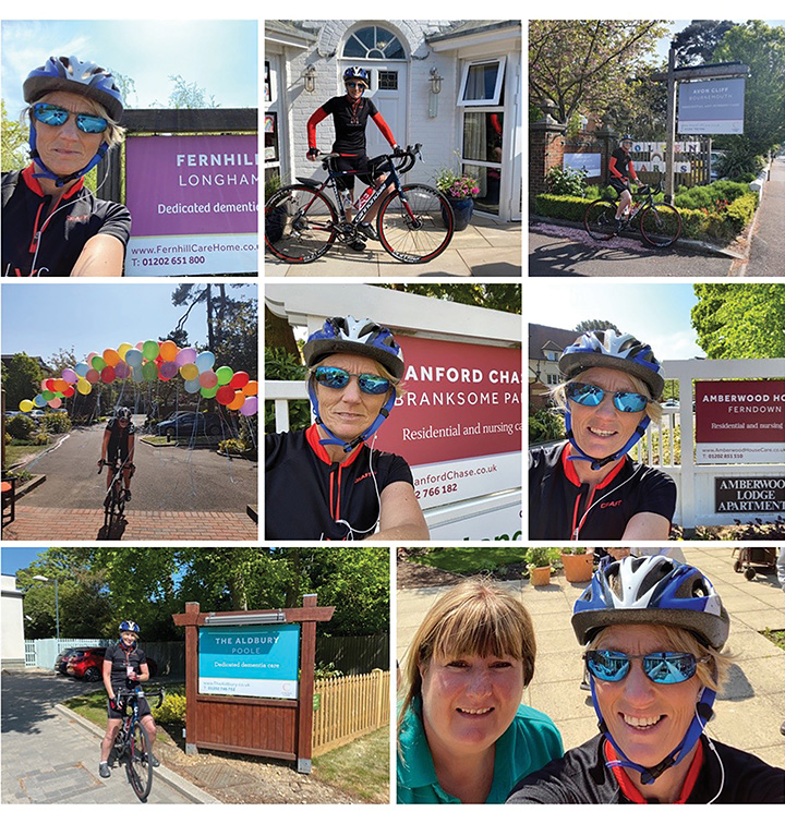 WHEELEFFORT: Operations Manager Martina Lamden cycled 26 miles with stop-offs at six Colten homes.