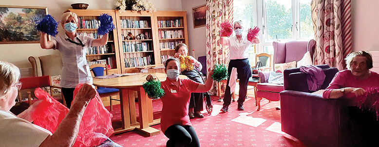 ONTHEMOVE: Kingfishers in New Milton staged a 26-minute 'seated dance'.