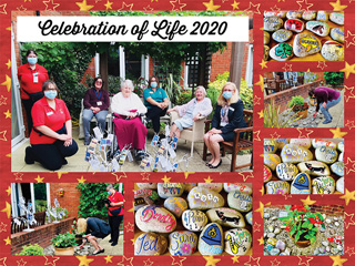 At Newstone House staff and current residents hand-painted pebbles in memory of friends they have lost in the past year.