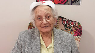 """Former nurse Dorothy Sage, who lives at our Outstanding-rated Kingfishers home in New Milton, was only too glad to take part in this year's International Nurses Day, saying: """"Nursing is a noble profession. The dedication to your duties always has to be outstanding. If I could choose my career all over again it would still be nursing."""""""