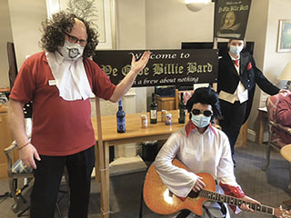 MUCH A-BREW ABOUT NOTHING: Court Lodge created a mock tavern, Ye Olde Billie Bard.